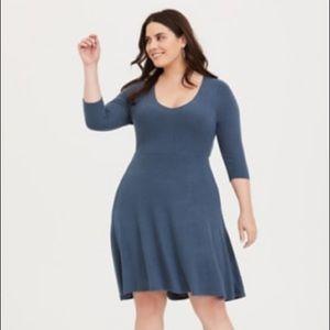 Torrid: Slate Blue Midi Sweater Dress